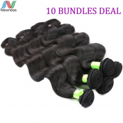 Newness Wholesale Brazilian Virgin Hair Body Wave Weave 10 Bundles Virgin Human Hair Extension Brazilian Hair Weave Bundles