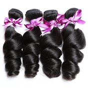 Peony Hair 8A Grade Brazilian Loose Wave hair Virgin Remy Human Hair Weave 4 Bundles Uprocessed Virgin Hair Natural Colour