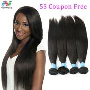 Newness Peruvian Virgin hair Straight 4 bundles Deal Hair Weave Bundles Straight Virgin Human Hair 7A Soft Hair Extension