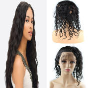 Dreambeauty 360 Lace Band Frontal Closure Natural Wave 360 Full Lace Frontal with Adjustable Straps Remy Brazilian Human Hair with Baby Hair Natural Hairline Natural Colour for Black Women