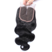 Arling Brazilian Body Wave Top Closure Unprocessed Human Hair Lace Closure Bleached Knots with Baby Hair Middle Part Closure 41cm