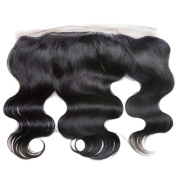 YIZE Hair Body Wave Brazilian Hair Closure 13X4 Free Part Unprocessed 7A Virgin Brazilian Human Hair Lace Frontal Closure Natural Black Colour