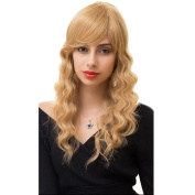 Styler Long Curly Fashion Women Wavy Wig with Free Wig Cap and Wig Comb