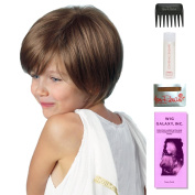 Logan (Childs Wig) by Amore, Wig Galaxy Hair Loss Booklet, 60ml Travel Size Wig Shampoo, Wig Cap, & Wide Tooth Comb (Bundle - 5 Items), Colour Chosen