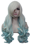 Diforbeauty 70cm Long Big Curly Wave Wig Heat Resistant Synthetic Hair Cosplay Wigs