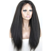 ZM Hair Natural Looking Italian Yaki Lace Front Wigs Natural Black Best Brazilian Remy Virgin Human Hair Wigs(lace front-8