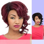 DAISY (Foxy Lady) - Heat Resistant Fibre Lace Part Wig in RT1BWINE