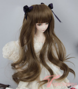 "Topcosplay 8-9"" 1/3 BJD MSD DOD DD Pullip Dollfie Doll Long Curly Toy Wig for Blythe Not for Human 20.5-23cm"