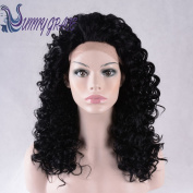 Sunny GraceBlack kinky curly wig synthetic lace front wigs heavy density for black women