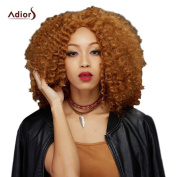 BeautyGal Adiors Women Fashion Long Middle Part Towheaded Curly Synthetic Wig