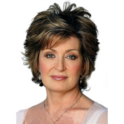 Styler Short Curly Women Wigs Fashion Hairstyle Human Hair Paula Young Wigs for Middle Age Women