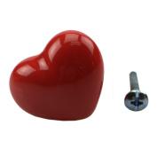 MEXUD Heart Shape Ceramic Door Knobs Cabinet Drawer Cupboard Furniture Pull Handle