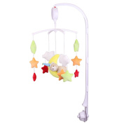 NEW ~ Battery-operated 128MB Micro SD Card Baby Mobile Music Box for Crib with Holder and Hanging Rotating Soft Bell Dolls Kit