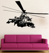 Helicopter Chopper Kids Room Military Decor Wall Mural Vinyl Decal Sticker M039