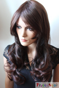 PRETTYSHOP Fashion Lady Wig Long Hair Cosplay Curled Wavy BROWN CHOCOLATE Heat-Resistant