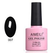 AIMEILI Soak Off UV LED Gel Nail Polish - Blackpool (007) 10ml