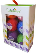 Bath Bombs Gift Set by Botanicare - Luxury Bath Fizzies, Vegan, All Natural, Made with Essential Oils, Lavender, Peppermint, Vanilla, Rose, Grapefruit, Lime