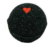 Black Bath Bomb w/Heart 170ml Aloe Vera Kaolin Clay scented w/ Little Black Dress
