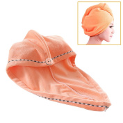 Jack & Rose Microfiber Hair Towel Premium Hair Drying Towel Super Absorbent for Different Hairstyles 23.5 * 25cm Orange