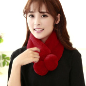 Lisingtool Women Winter Warm Plush Scarf Stole Cape Collar Wrap Scarves Shawl
