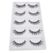 .  5 Pair/Lot Crisscross False Eyelashes,Canserin Voluminous HOT Lashes