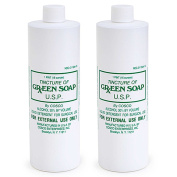 Cosco Tincture of Green Soap U.S.P. Medical Tattoo Cleanser - Two 470ml Bottles