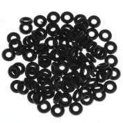 PiercingJ 100pcs Black O-Ring for Ear Piercing Gauge Kit 14G 12G 10G 8G 6G 4G 2G 0G 00G 1.3cm ... 1.9cm