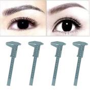 DZT1968 4PC Microblading Reusable Makeup Measure Eyebrow Guide Ruler Permanent Tools