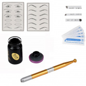 Sankuwen Permanent 3D Makeup Eyebrow Tattoo Needle Pen Pigment Kit