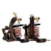 Dragonhawk 2 Brass Tattoo Machine Straight Shader Circle Liner with 2 Grips