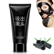 OR Pure Blackhead Remover Natural Bamboo Charcoal Peel Off Mask Tearing Deep Cleansing Purifying Peel off Black-head Acne Treatment Black Mud Face Mask