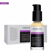 Hyaluronic Acid Cream Face Moisturiser for Dry Skin, Anti Ageing Face Cream, Anti Wrinkle, Pore Minimizer, Even Skin Tone with Vitamin C, Vitamin E, Ferulic Acid, Tripeptide 31 - YEOUTH Guaranteed