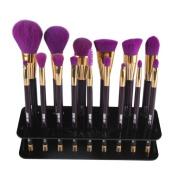 OVERMAL 15 Cosmetic Shelf Tool,Hole Square Makeup Brush Holder Drying Rack Organiser
