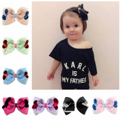 20 pcs Baby Hair Accessories Ribbon bows with hairclips Baby Girls Cute Hair clip Soild Bows Children Accessory