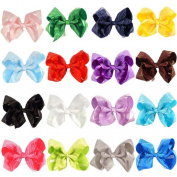 CellElection 15cm Beauty Children Baby Girls Lace Satin Ribbon Alligator Hair Bow Girl Lace Hair Clips Hair Accessories