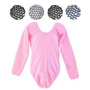 Crochet Hair Bun Cover with Rhinestones and Long Sleeve Leotard Set