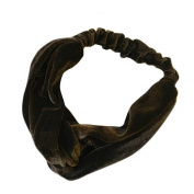 Hunputa Fashion Womens Velvet Bowknot Cross Twist Headband Hair Band Turban Elastic Headband Bandage