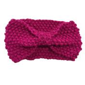 WIIPU Women Knitted Bow Headband Crochet Hairband Winter Ear Warmer Headwrap (N77)