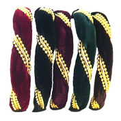 Twisted Hair Band w/Beads - Set of 5