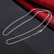 Fheaven Fashion Women Men 2MM Silver Necklace Chain Jewellery 16inch/18inch/20inch/22inch/24inch/26inch/28inch/30inch Necklaces