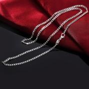 Fheaven Women Mens 2MM Sell Silver Jewellery Snake Chain Necklace 16inch/18inch/20inch/22inch/24inch/26inch/28inch/30inch