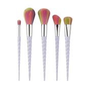 Fheaven 5PCS Fashion Design Twist Make Up Foundation Eyebrow Eyeliner Blush Cosmetic Concealer Brushes