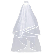 Topeakmart 2T Bridal Wedding Veil with Comb Elbow