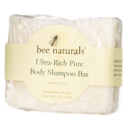 All-In-One Ultra Rich Pure Body Shampoo Bar - 100% Natural Moisturiser Soap - MILD TRIPLE ACTION FORMULA - Gentle and Chemical Free - Rich Emollient Lather for Sensitive, Dry Hair, Body Skin