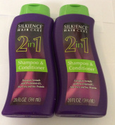2pck - Silkience 2 in 1 shampoo and conditioner 590ml
