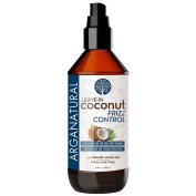 Arganatural Leave-In Coconut Frizz Control Hair Conditioner, 8 Fluid Ounce