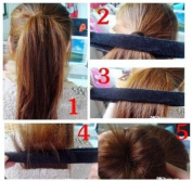 1PC Black Girls Hair Bun Updo Fold, Wrap & Snap Styling Tool