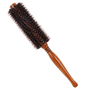 Valdler Natural Boar Bristle Round Brush for Hair Drying, Styling, Curling