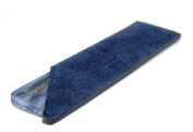 AUGUST GROOMING Vanity Comb in Lake with Navy Suede case