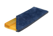 AUGUST GROOMING Pocket Comb in Honey with Navy Suede case